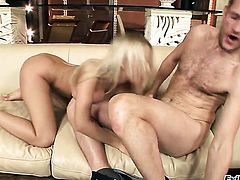 Mandy Dee is an aanal slut hard cocked dude Ian Scott loves to fuck before she gives blowjob