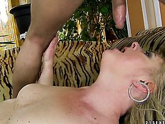 Blonde Cristina is ready to suck guys love wand fuck from dusk till dawn