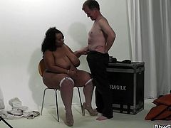 Caught cheating with ebony bbw in fishnets