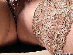 Rocco Siffredi touches the hottest parts of gorgeous Lena Covas body before he drills her mouth