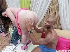 Latina BBW pornstar Angelina Castro is a huge fan of big black cocks and she prefers having a black guy always on her side and whenever she needs a good fucking fix he is always there.