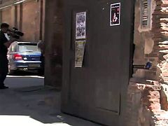 Nothing can stop this dominant guy to fuck slutty Leyla right on the streets of the town. The blonde-haired bitch has her hands tied with rope. Her ass seems to be of great interest for the horny angry guy, that start banging her hard from behind. Click to watch the exciting kinky details!