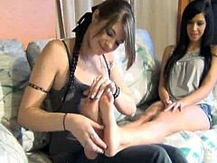 Foot tickle and worship