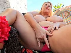 Filthy BBW whores raw pussy show outdoors. They enjoy injecting those greasy cunts with their filthy toys as they complete their horny lesbian summer vacation.
