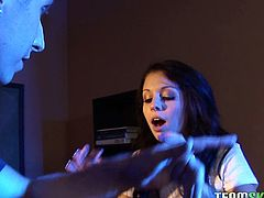 Strange, paranormal stuff happen to Madelyn Monroe. She's at school with a guy who she ends up fucking and sucking dry as a reaction to her inexplicable fear.