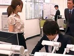 Bigtitted Office Worker From Japan has made love huge By Her chief