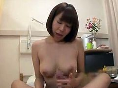 Sexy Japanese nymph has got laid By the Male Nurse