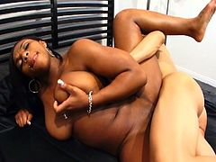 Teen interracial action as a stud take on his Ebony girlfriend in the bedroom.