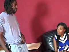 The movie opens with EBony cheerLeader Maya acting enchanting and virGinal in front of the camEra. she got Joined a Horny black Team tutor with a huge baton that she Enjoyed riDing on top. but first the guy Made her take off her uniform and slurp his big black cock.