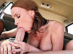 Diamond Foxxx with giant tits shows sex tricks to Xander Corvus with passion