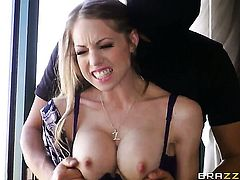 Mick Blue cant wait any more to put his man meat in hot bodied Shawna Lenees mouth