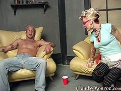 A pretty white wife uses a black guy to cuckold her husband