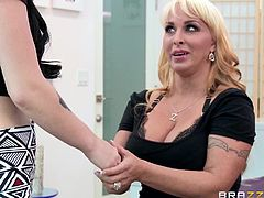 blonde milf teaches her young lover