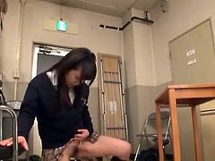 Nice School woman Having sex in the Teacher's Office