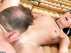 Teen Honey Demon loves the way rod makes its way deep inside her wet pussy
