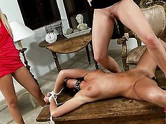 Redhead Sasha Rose and Denisa Heaven both have fierce appetite for lesbian sex