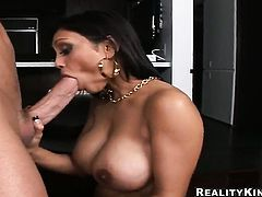 Brunette Priya Rai shows oral sex tricks to Billy Glide with passion and desire