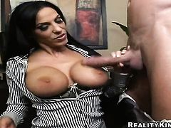 Billy Glide fucks unbelievably hot Veronica Raynes beautiful face with his worm before anal sex