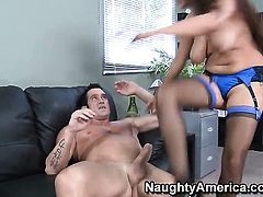 Billy Glide uses his rock solid pole to make Latin Penelope Piper happy