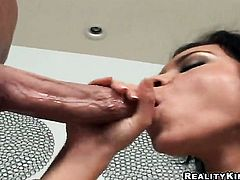 Billy Glide cant wait any longer to stuff his love wand in hot bodied Ruby Knoxs mouth