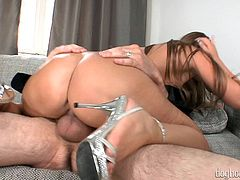 Horny babe with amazing big butt is a beauty, who can make your cock explode, just by taking it in her mouth and her slutty blowjob. This Hungarian hungry bitch knows her tricks to take your cock in her throat. And after getting enough gagging and choking, she let the giant go all the way inside her!