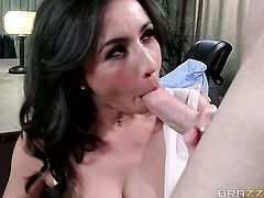 Senorita Stephani Moretti with giant hooters gets used to orgasm by Johnny Sins