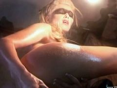 Oiled Solo Model With Big Tits Wistfully Work On Pussy With Machines