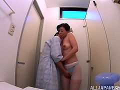 If you enjoy naughty Asians wearing uniforms, click to see a Japanese bitch dressed as a nurse, playing dirty with an insolent pacient. You can see she's craving for cock and after her clothes are removed and her ass licked, she gets on knees, to suck his dick. Watch all!