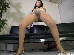 If there is one thing Japanese sluts love, it is vibrators. Yes, they are ready to push a big one so deep inside of them, that they don't really care what happens. This chick does not care, if that sex toy ravages her cunt. All she wants to do, is fuck it really hard and long. And that satisfies her fully.