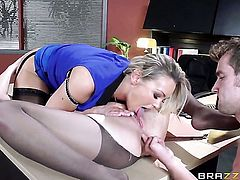 Abbey Brooks having sensual anal sex with horny guy Van Wylde