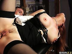 Tarra White asks Danny D to shove his sturdy snake in her mouth after she takes it in her backdoor