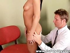Horny patient loves her treatment that she receives