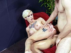 Tattooed punk pornstar rammed by a stud's big johnson