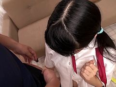These teen has so many sex toys shoved in her butthole, that it is almost unbelievable. She has the toys shoved in her pussy, too. After she is brought to orgasm, it is time for this cute Japanese teen to suck on her man's cock.