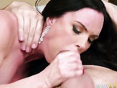Keiran Lee is horny and cant wait any more to bang Diamond Foxxx with giant hooters in her butthole