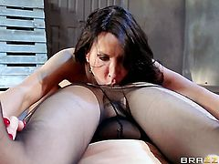 Lezley Zen doing lewd things with Katrina Jade in lesbian action
