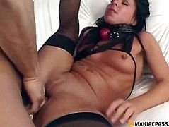 In his beautiful girl pussy fucked flexible