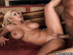 Billy Glide attacks sexy Shyla StylezS mouth with his love torpedo before anal sex
