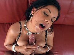 Horny slut banged hard with cock
