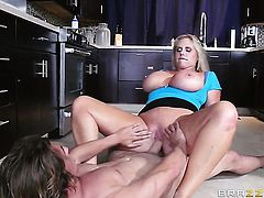 Tyler Nixon drills mouth-watering Karen Fishers pretty face with his love torpedo