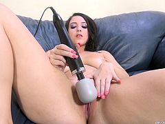 Black Santa has a treat for her. Its time for this bitch to get some hot and horny action. Santa has brought her a present. It's a brand new vibrator and she tests it out in from of black Santa.