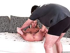 Blonde is in heat in this sex scene