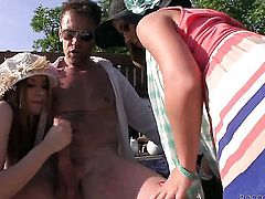 Diamond Cross slowly sucks the head of her Rocco Siffredis schlong before she gets cornholded