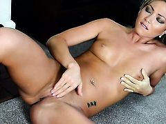 Natalia Forrest is on the way to the height of pleasure in solo action