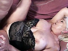 Dana Hayes tries her hardest to make horny guy Jay Huntington bust a nut with her mouth