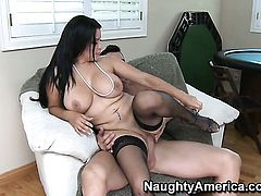 Chica Sophia Lomeli in sexual ecstasy with hard dicked fuck buddy Billy Glide