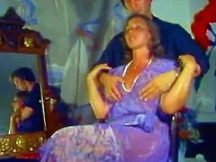 Vintage - Hairdresser Does Hairy Mature on Housecall