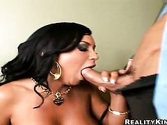 Tommy Gunn gets pleasure from fucking Mariah Milano with giant knockers in her hot mouth
