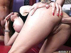 Busty Eva Karera gets a double penetration