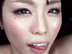 Point of view vid close by Mikuri Kawai having impaled in A Bedroom